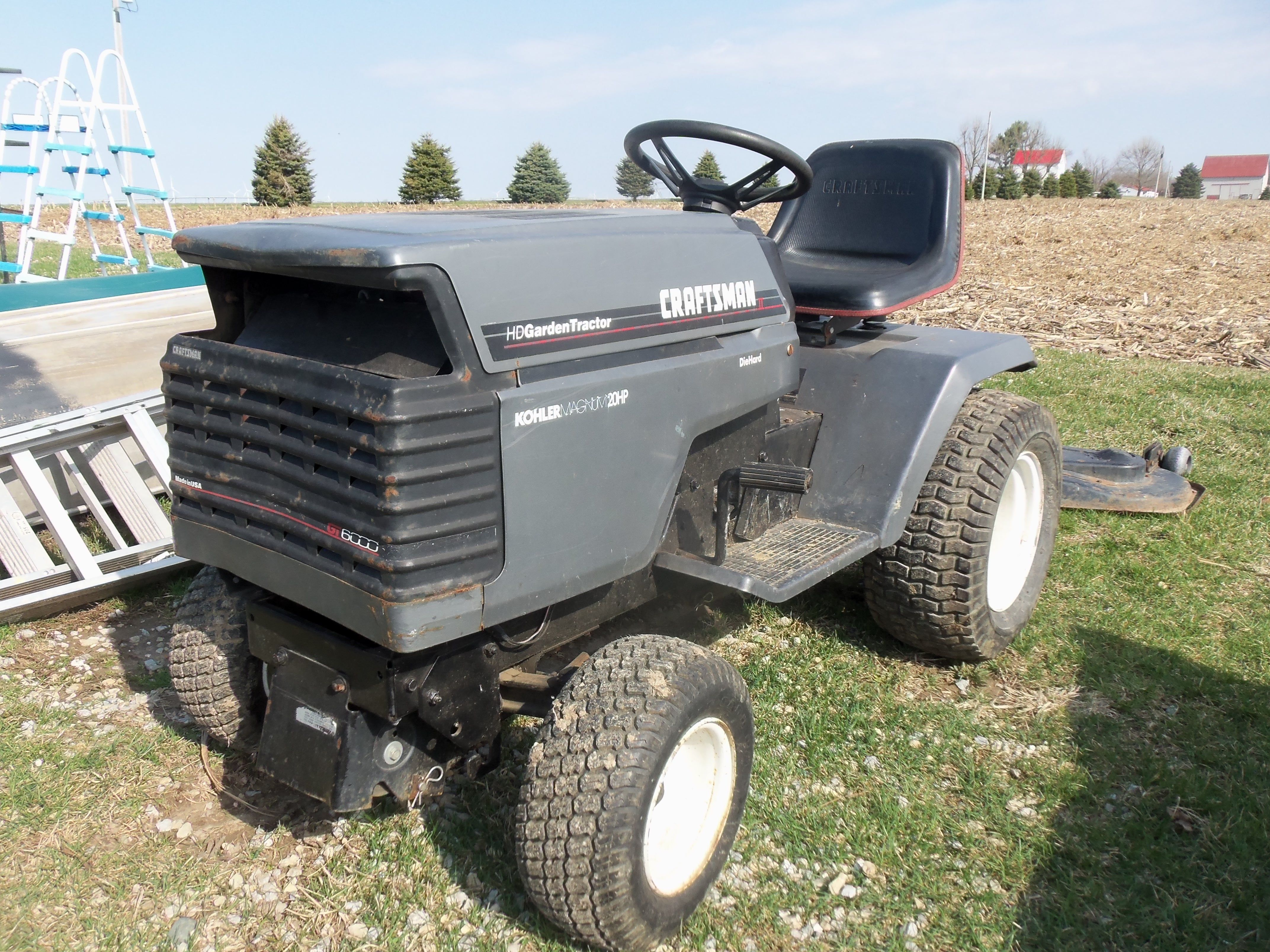 A gray Craftsman HD 2 lawn & garden tractor