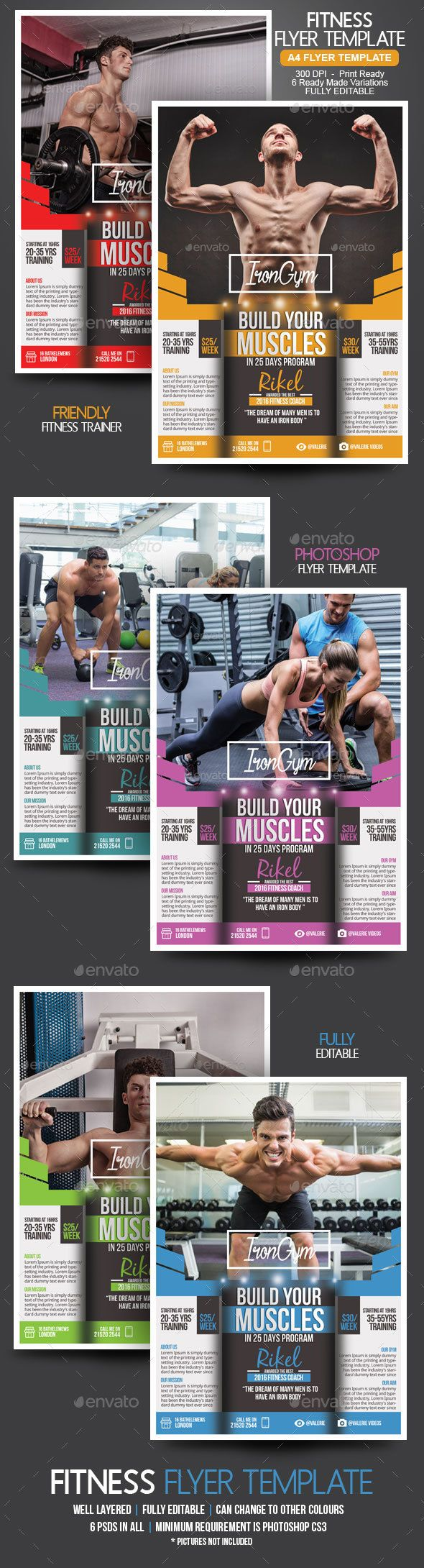 fitness gym flyer template flyer template gym and marketing flyers