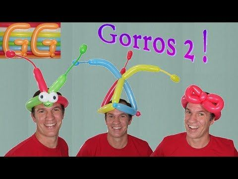 sombreros locos - cotillon para fiestas - globoflexia facil - sombrero con  globos  2 - YouTube 73791d83de7