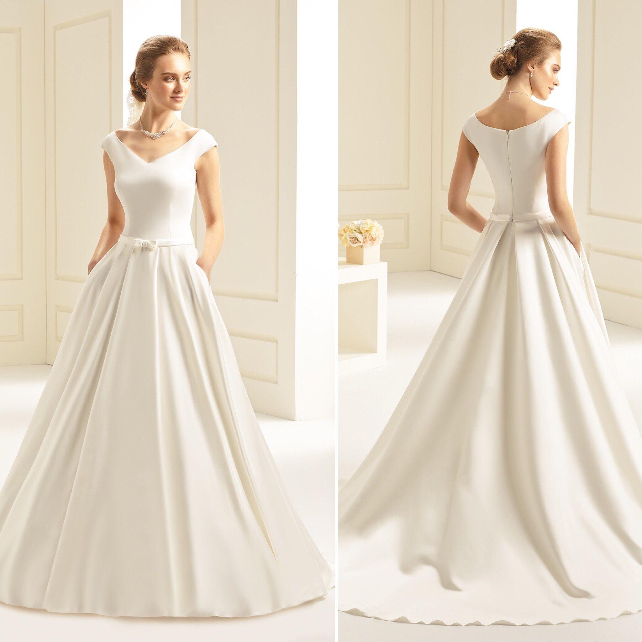 Brautkleid Aus Mikado Kleid Hochzeit Braut Brautkleid