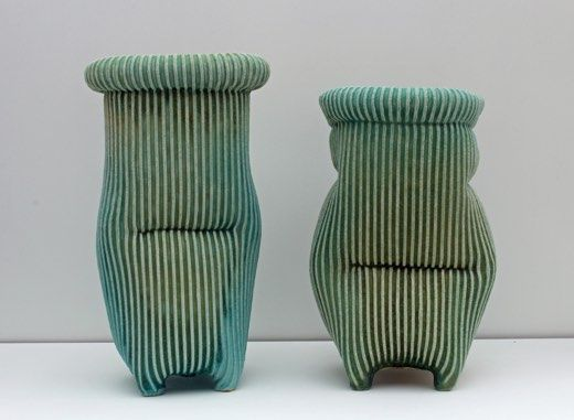 Ceramics by Roger Lewis at Studiopottery.co.uk - Two Halo Pots