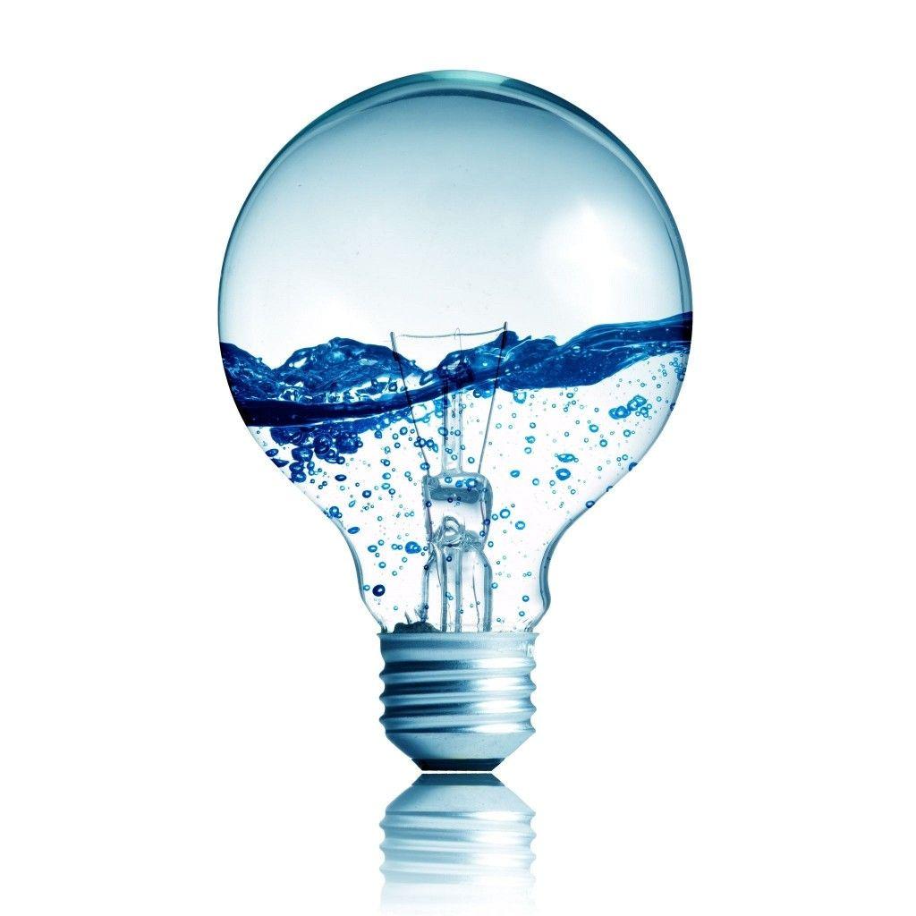 Light Bulb Wallpaper: Light Bulb With Water Inside IPad Wallpaper HD