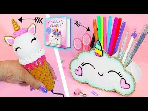 �DIY: Unicorn School Supplies || Infinite Pen and Pencil Holder || Unicorn Crafts Book �