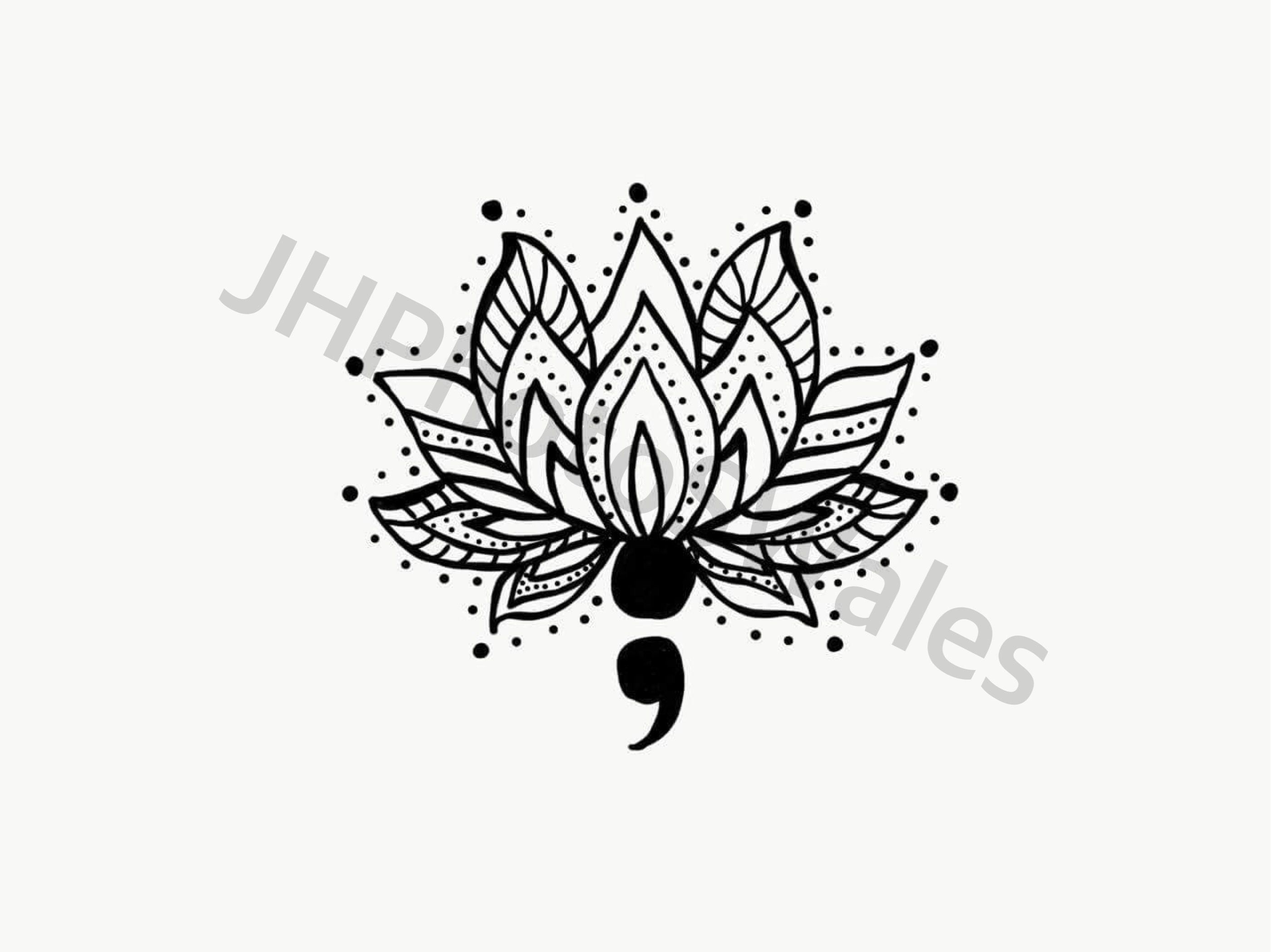 Lotus flower tattoo - Lotus Flower And Semi Colon More