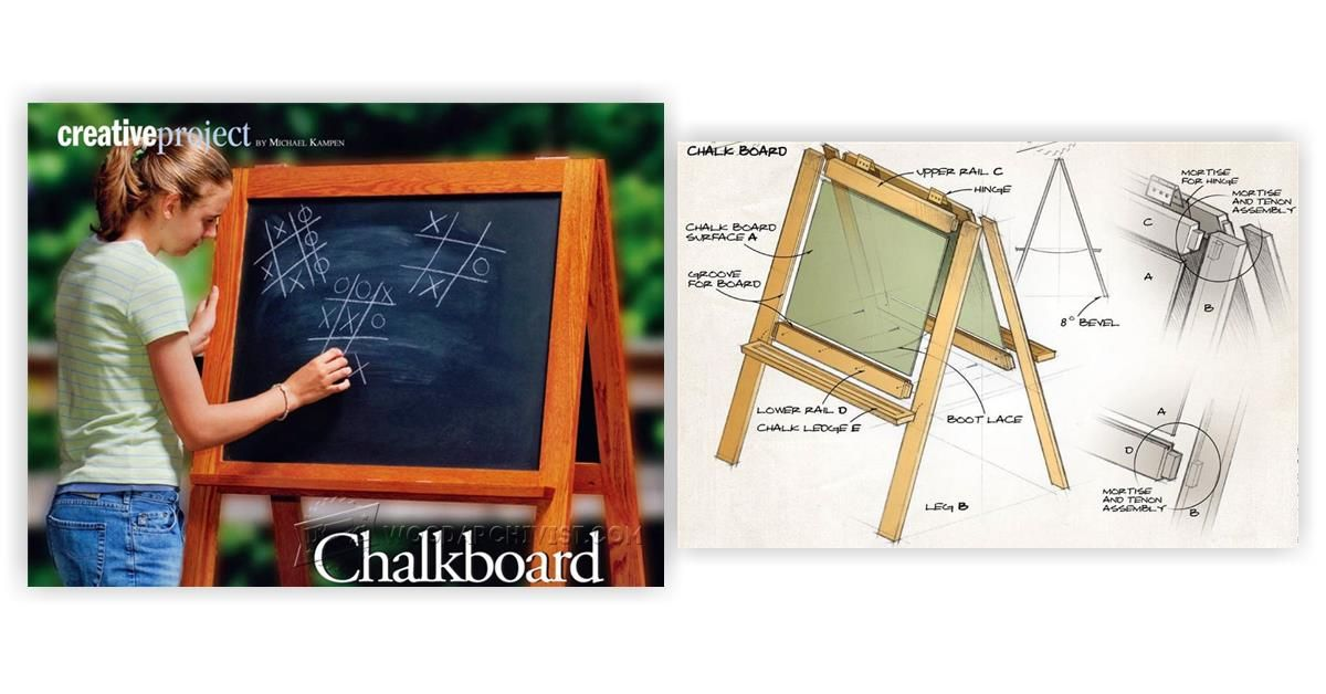 DIY Chalkboard Easel - Children's Wooden Toy Plans and Projects | WoodArchivist.com