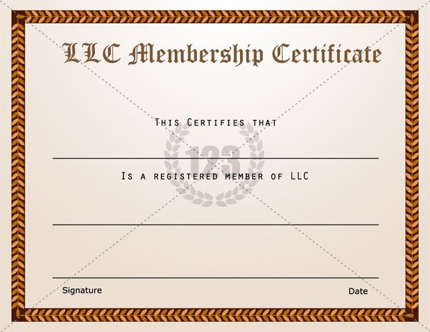 Membership Certificate Templates Best Quality LLC Free Download - sample membership certificate