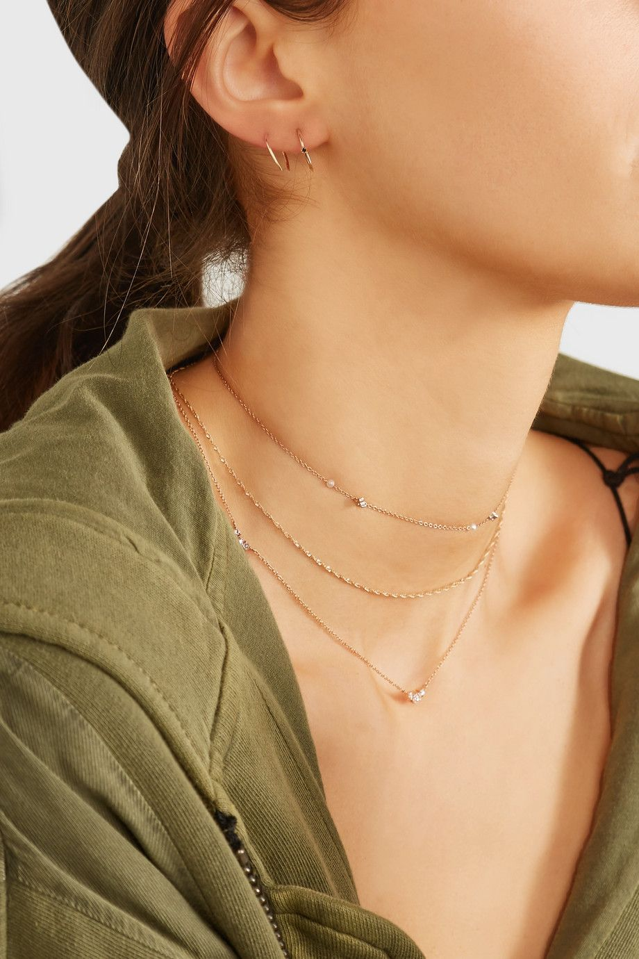 Dew Drop 14-karat Rose Gold, Pearl And Diamond Choker - one size Catbird