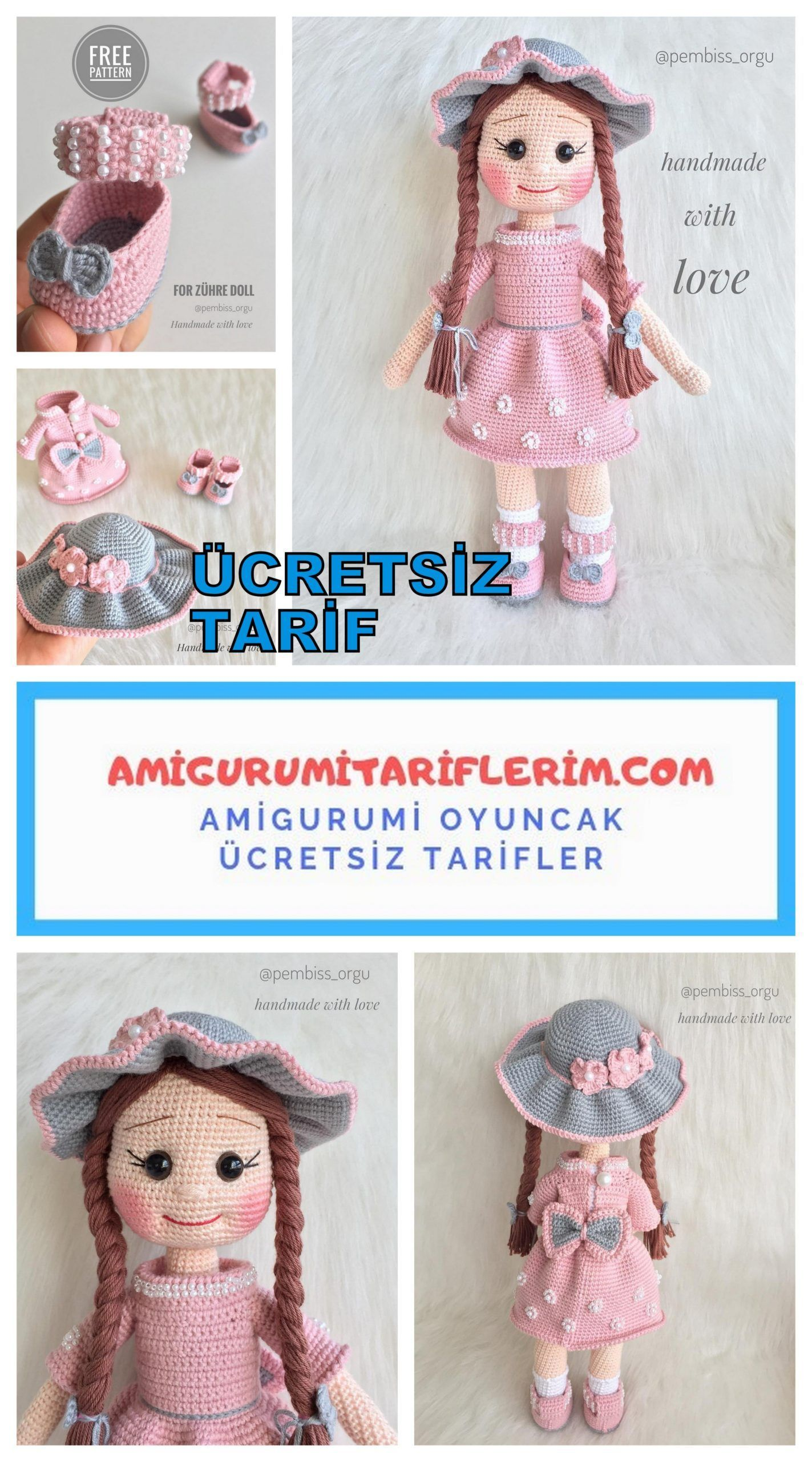 Amigurumi,amigurum, bebek yapılışı,amigurumi free pattern,örgü ... | 2560x1423