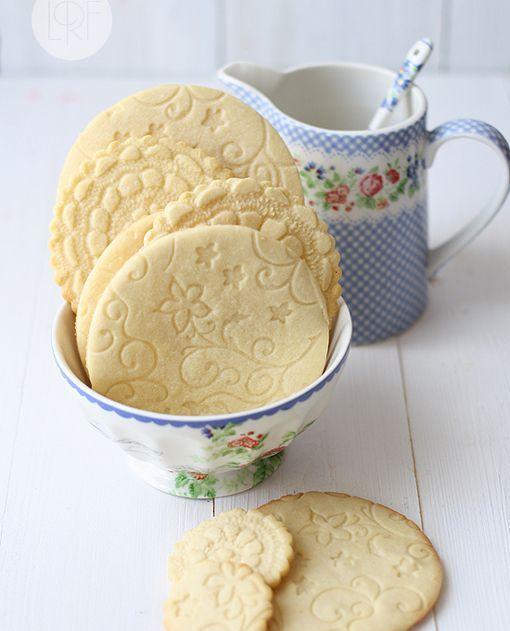 Lace butter cookies español