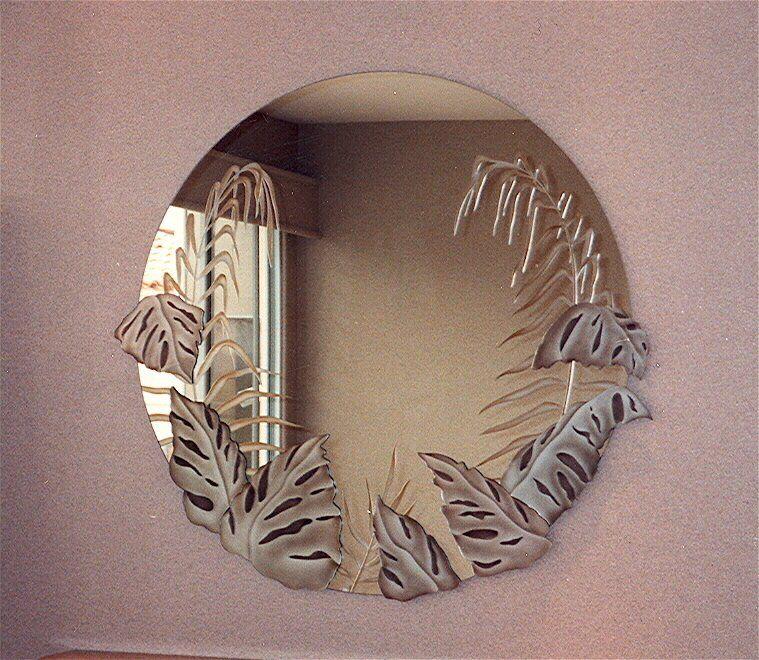 Decorative Mirror Bathroom Mirror Tropical Peak Decorative