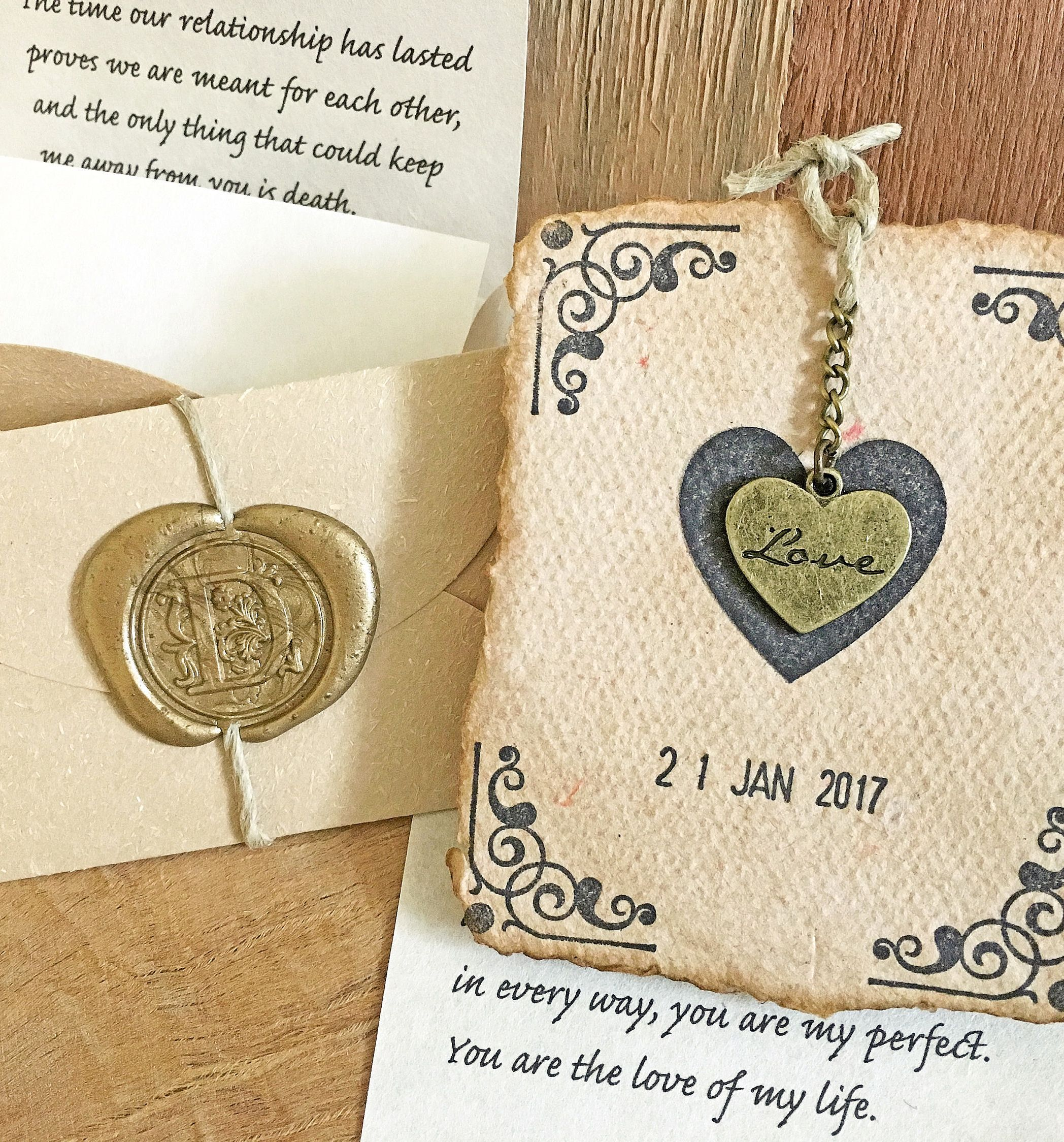 Romantic paper anniversary gift, Personalized love letter ...