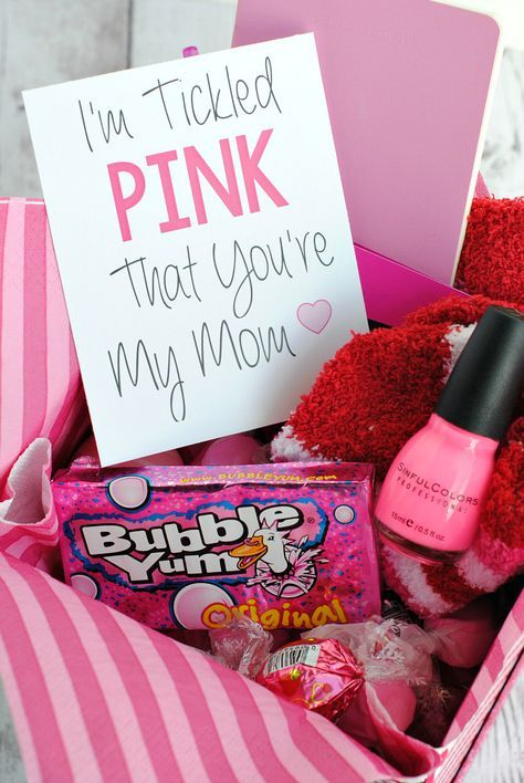 Tickled Pink Gift Idea Cute Mothers Day Gifts Tickled
