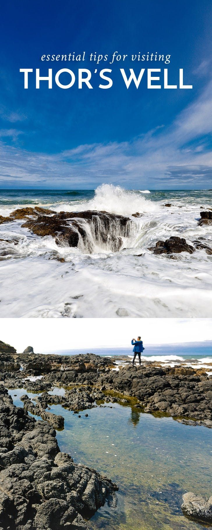 Guide to Thor's Well Cape Perpetua Scenic Area Oregon Coast