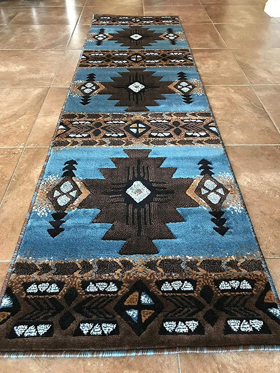 South West Native American Area Runner Rug
