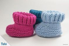 Photo of Knit baby shoes: baby booties – instructions for beginners – Talu.de
