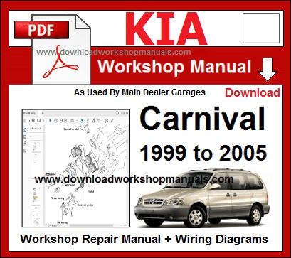 Kia Carnival Workshop Repair Manual & Wiring Diagrams ...