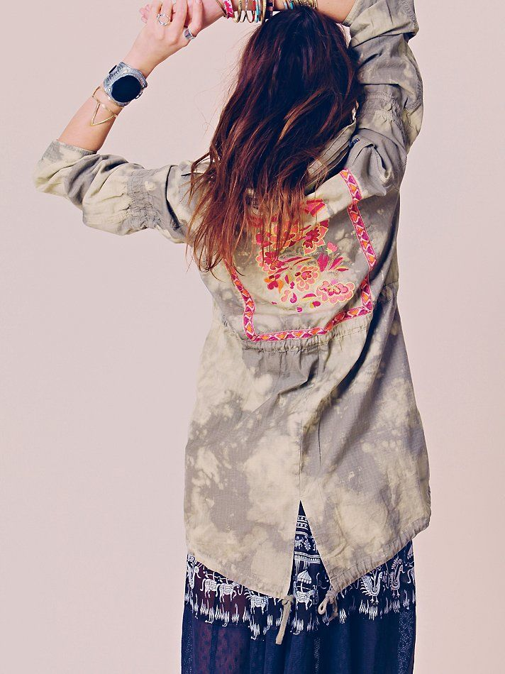 Free People Embroidered Parka at Free People Clothing Boutique