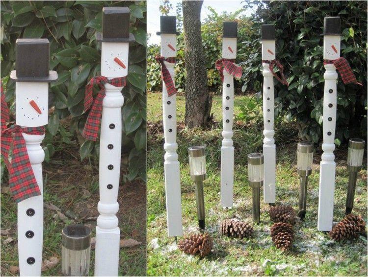 Gartendekoration aus holz selber machen  Gartendeko aus Holz -weihnachten-selber-machen-tischbeine ...