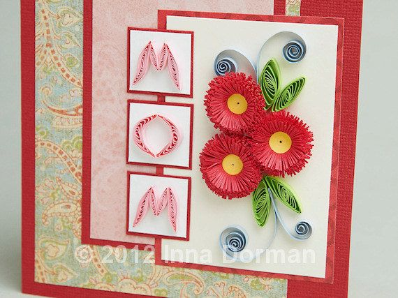 Mother S Day Birthday Floral Greeting Card Original Design