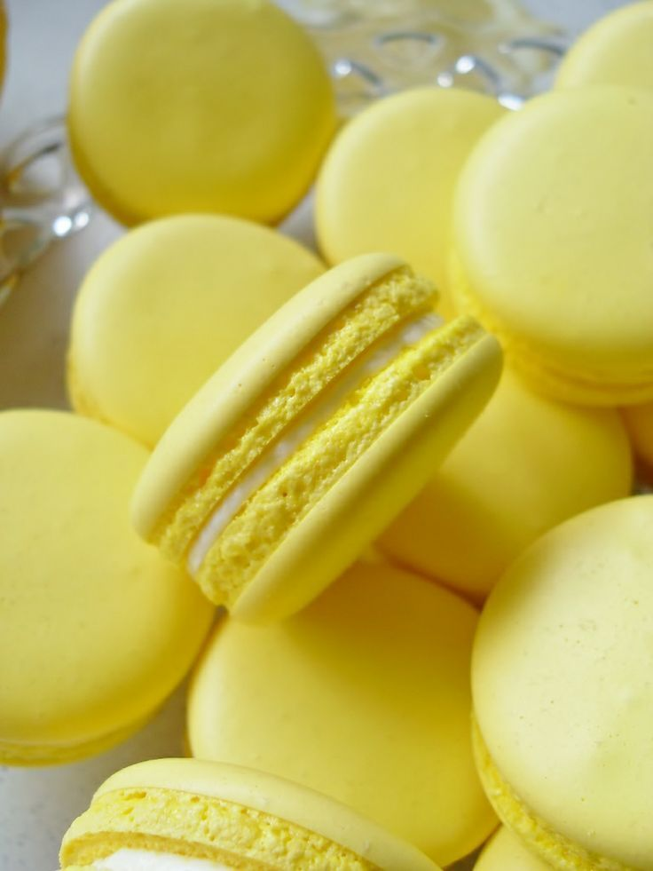 Lemon macaroons  - Yellow - #Lemon #Macaroons #yellow #yellowaesthetic