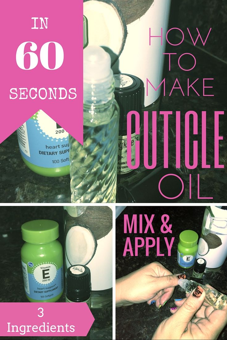 Diy cuticle oil make it in 60 seconds or less cuticle