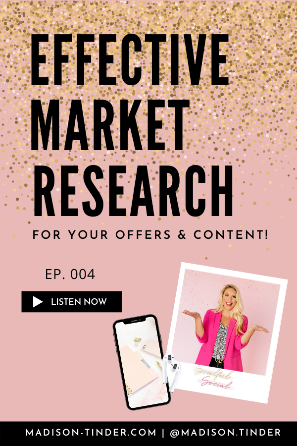 In episode 4 of the Soulful Social Podcast, Madison teaches how to figure out who your ideal client is, and how to find them on social media! Join us on Apple podcasts, Google Play, Spotify, TuneIn, and Stitcher! | #madisontinder #soulfulsocialpodcast #marketingcoach #entrepreneur