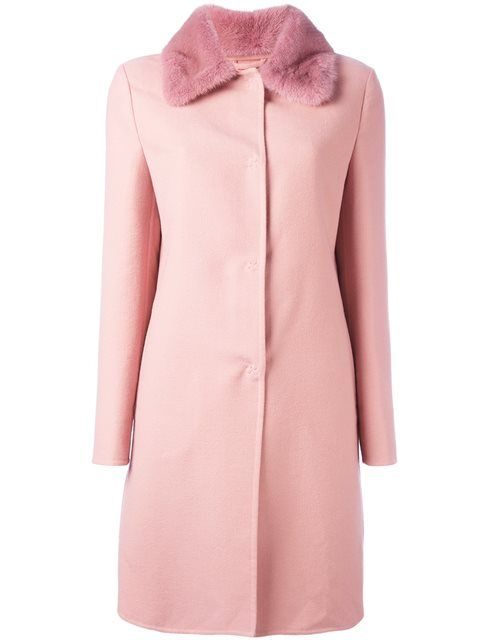 ERMANNO SCERVINO collar detail fitted coat. #ermannoscervino #cloth #coat