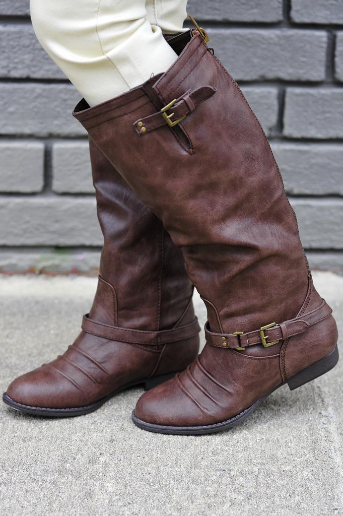 Forever Mine Boots: Dark Brown