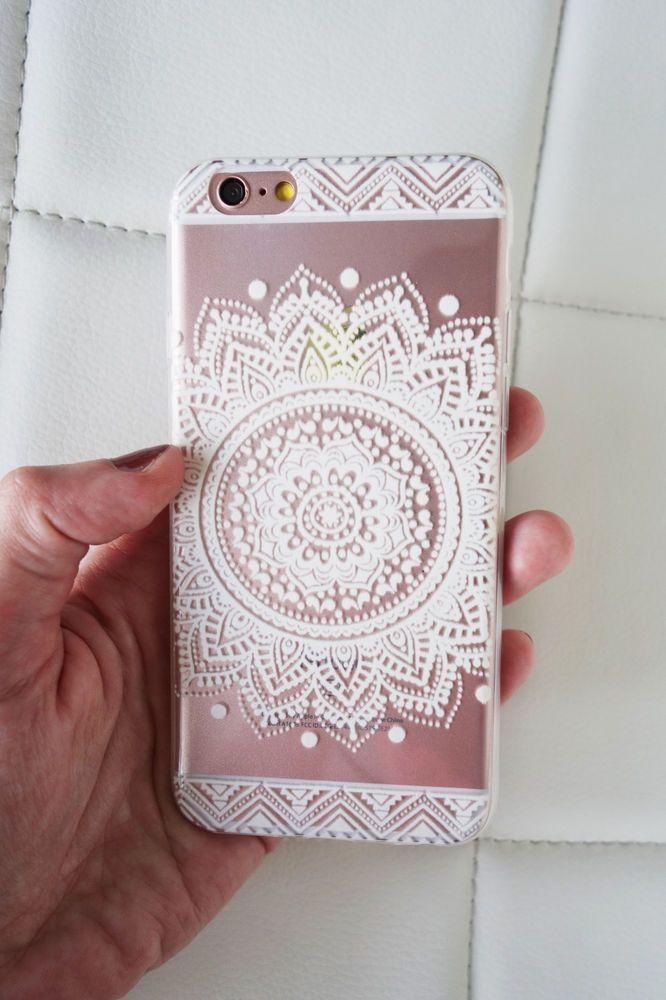 Mandala Henna Design Clear Iphone 6 6s Case Featuring A White