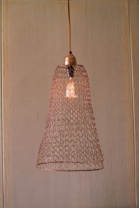 Wire Weave Pendant Copper Finish Cone Weaving Lamps And Lamp Shades Wire Weaving