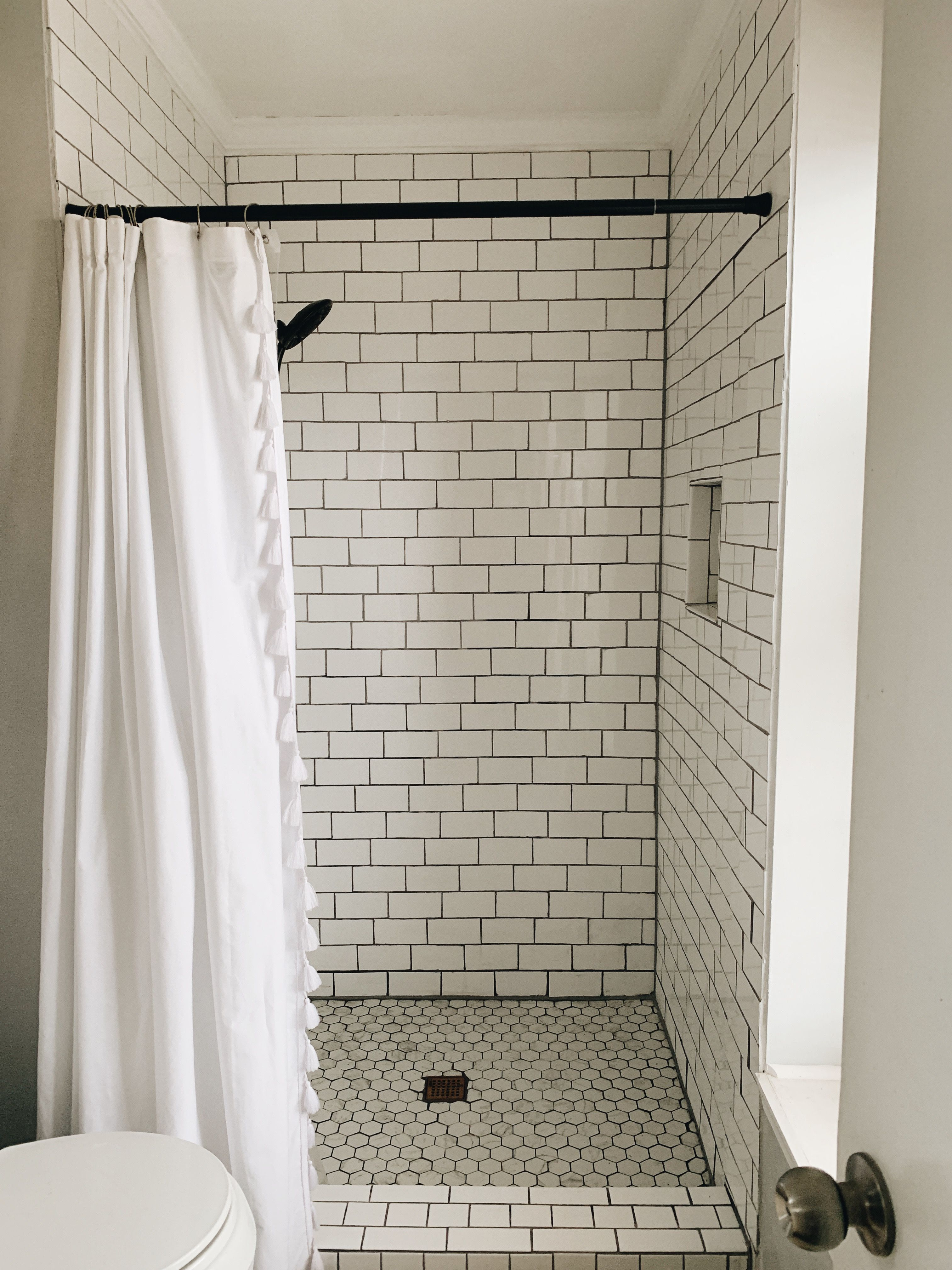 Diy Subway Tile Shower From Fiberglass Insert To Subway Tile