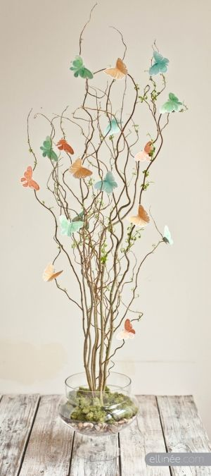 Paper butterfly tree