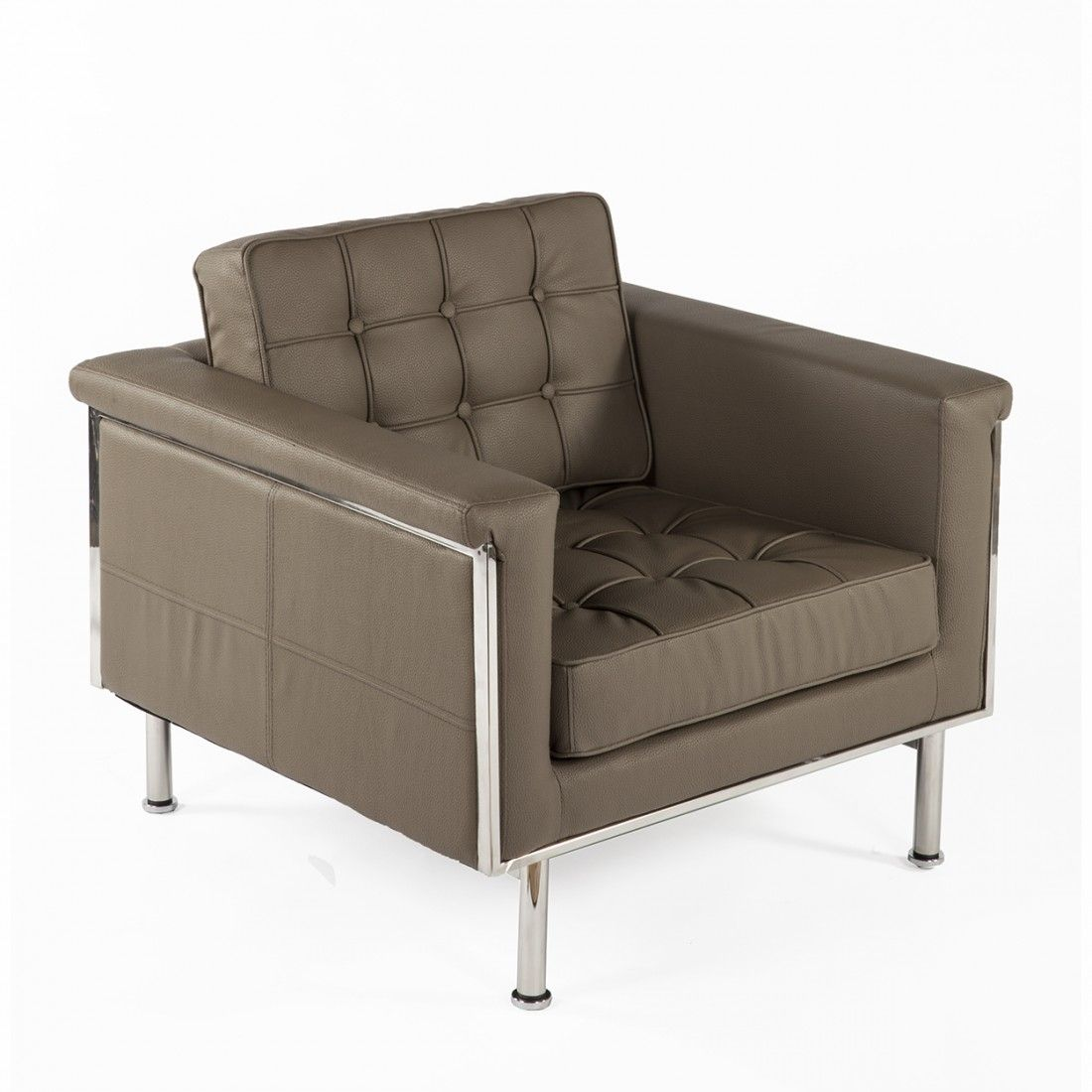 Urne Contemporary Modern Lounge Chair - Taupe France and Son Mid-Century Modern