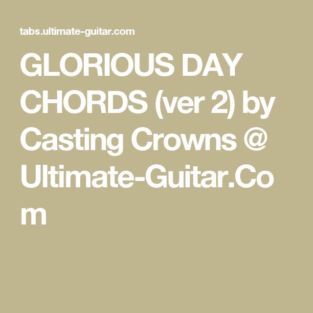 Glorious day guitar