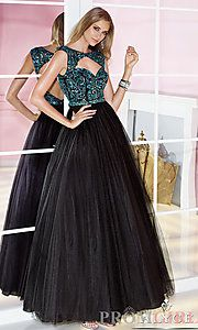 Buy Sleeveless Floor Length Alyce Dress with Cut Out Back at PromGirl