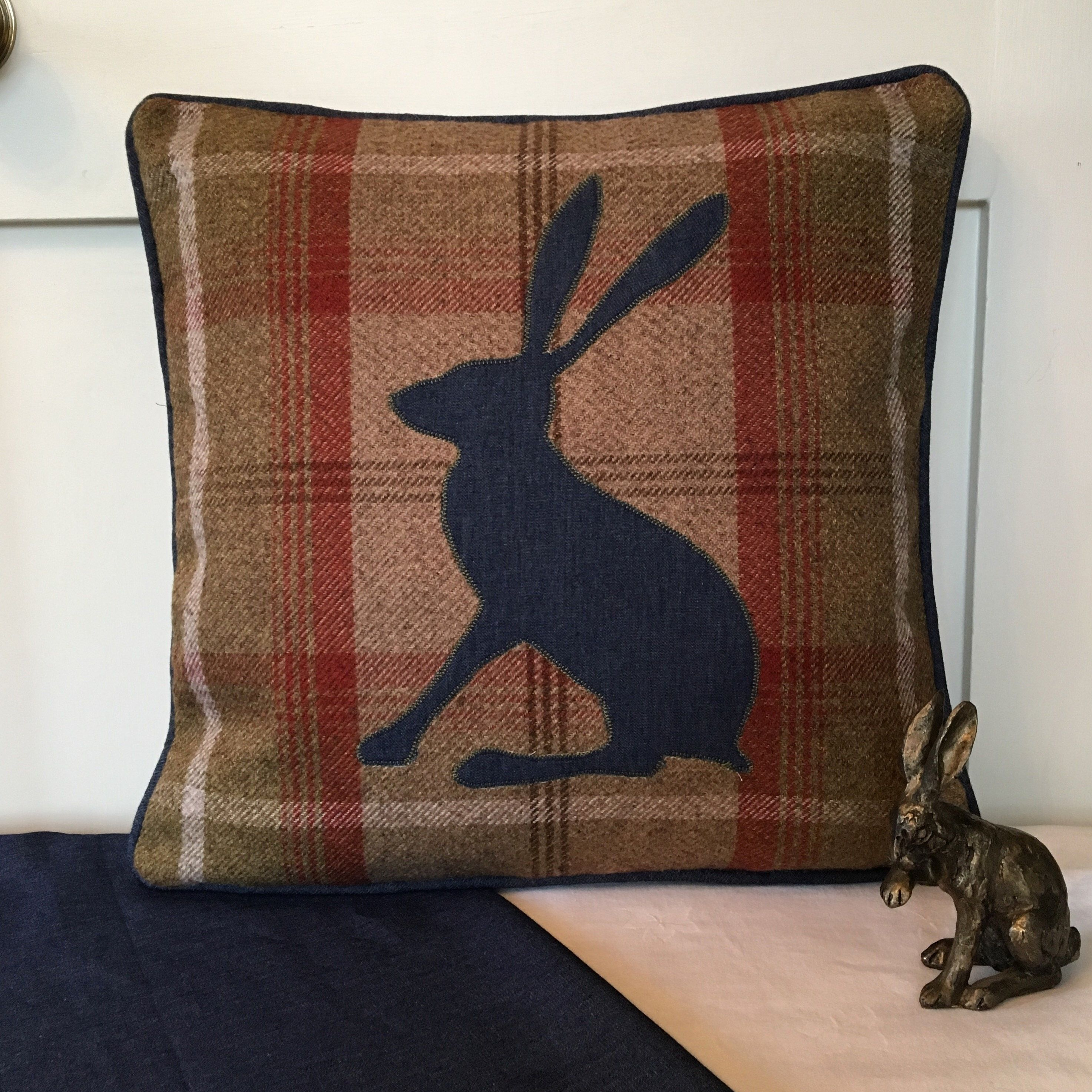Hare Woodland Animal Head Covers Pillow Cases Home Decor or Inner