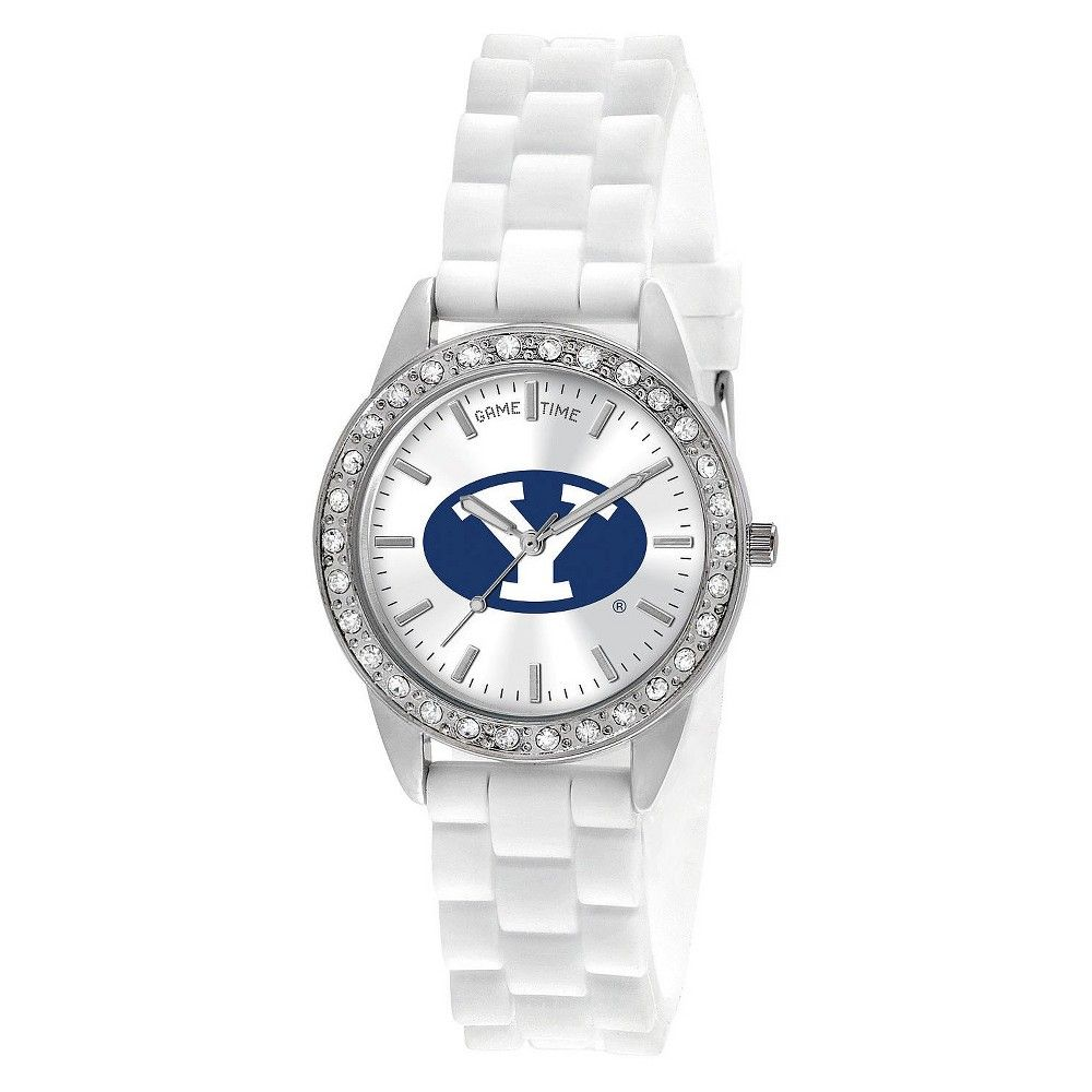 Women's College Game Time Bringham Young Frost Watch - White, Brigham Young University