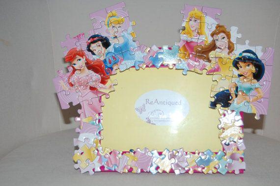 Disney Princess Puzzle Frame Belle Cinderella Jasmine Aurora