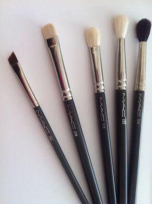 my top 5 mac eye brushes for beginners  mac makeup