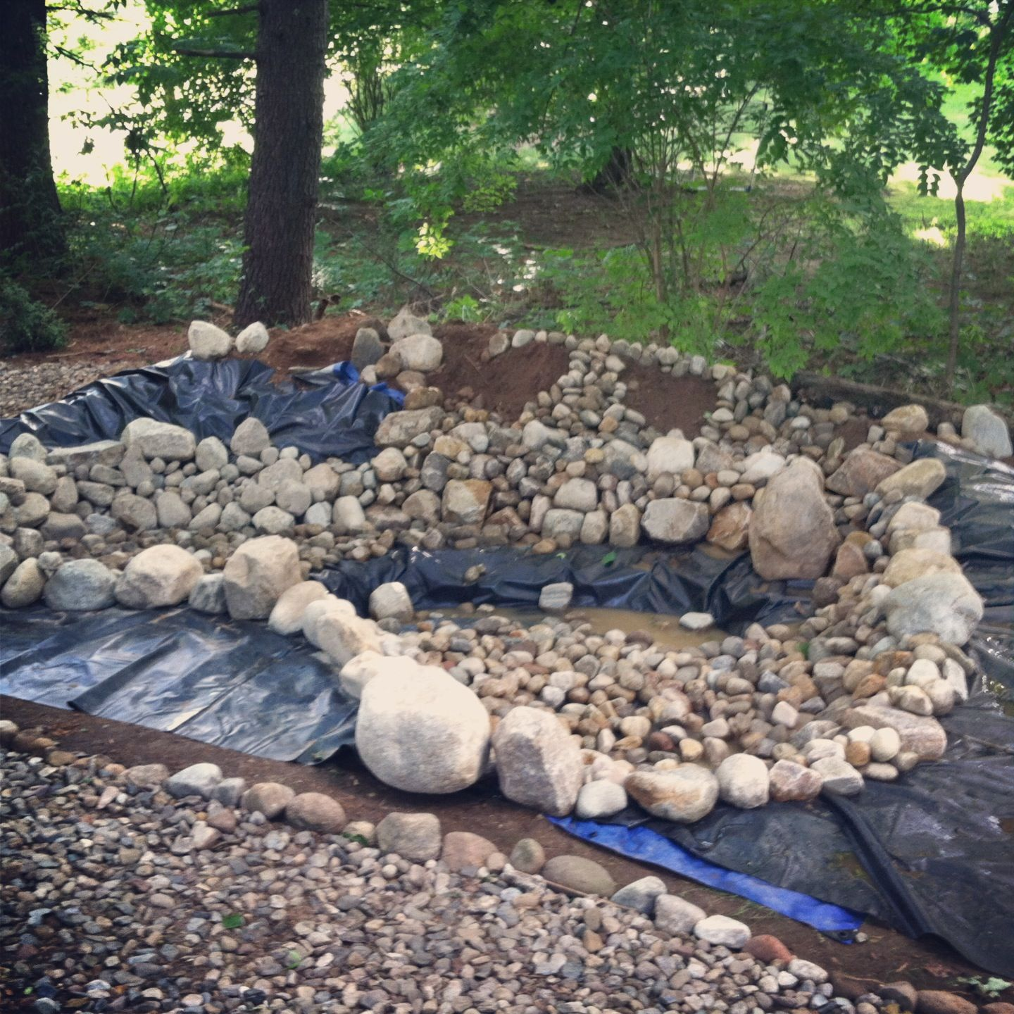 Rock bottom ponds pond and water garden diy ideas for Fish pond rocks