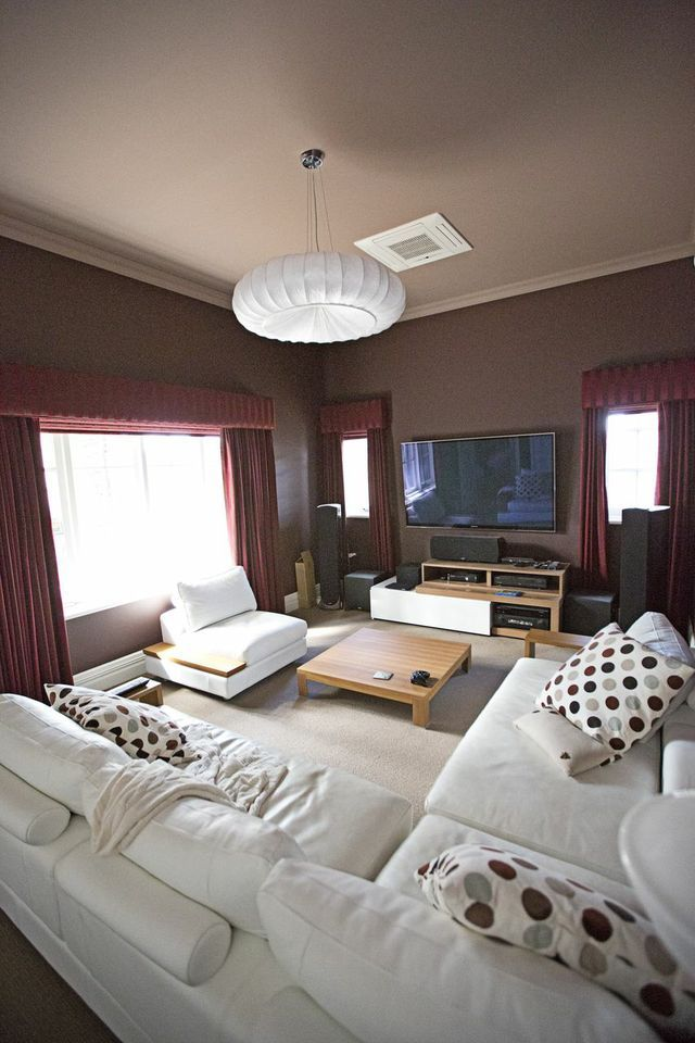 Led Tv Panels Designs For Living Room And Bedrooms: #hometheater #projector Home Theatre, Surround Sound