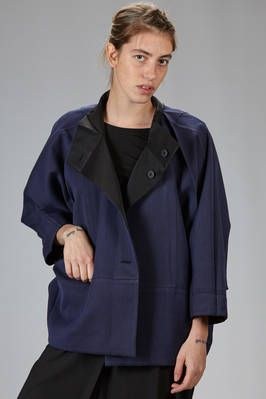 132 5. Issey Miyake | wide pea coat in recycled polyester cloth ...