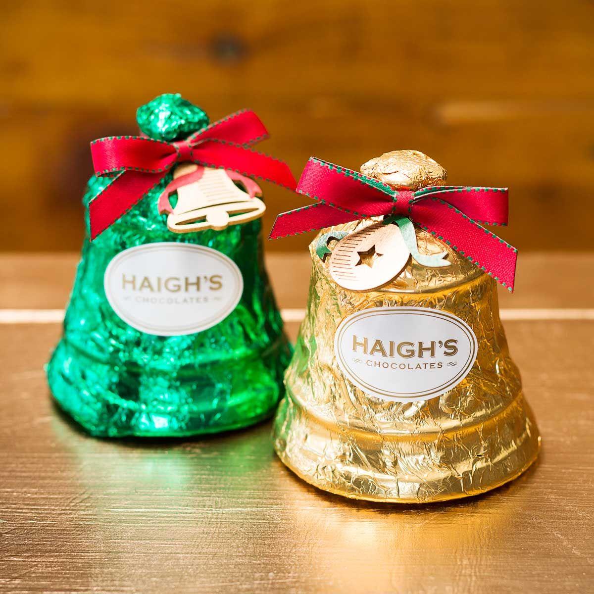 Haigh's Chocolates Milk and Dark Chocolate Bells http