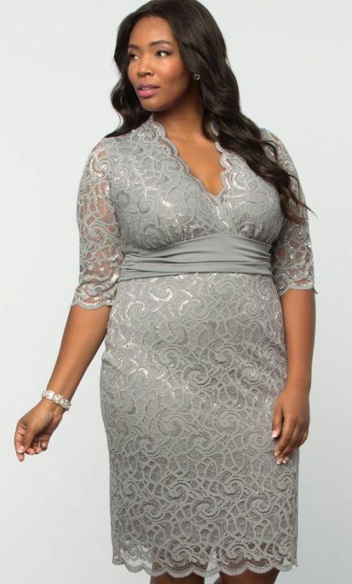 795cc7dc550 Lumiere Lace Dress - Silver Lining PlusSize  Curvy  Fashion  PSFashion Shop  www.curvaliciousclothes.com