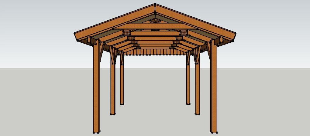 Schon Carport 3 X 5 Meter Mit Satteldach Aus Holz Zum Selber Bauen. Gable Roof,