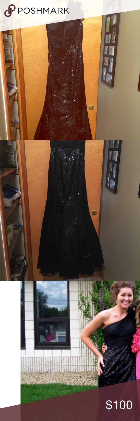 Sequined black prom dress black prom dresses dress prom and prom
