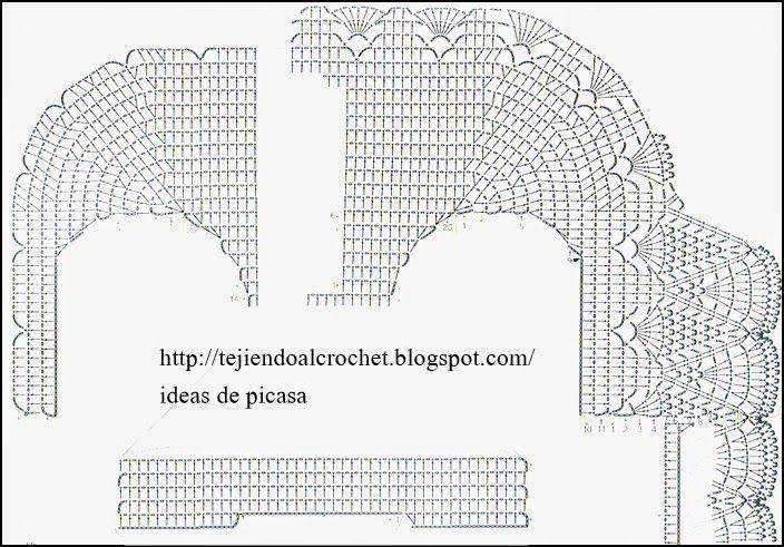 TEJIDOS A CROCHET - GANCHILLO - PATRONES: BOLERO | blusas ...