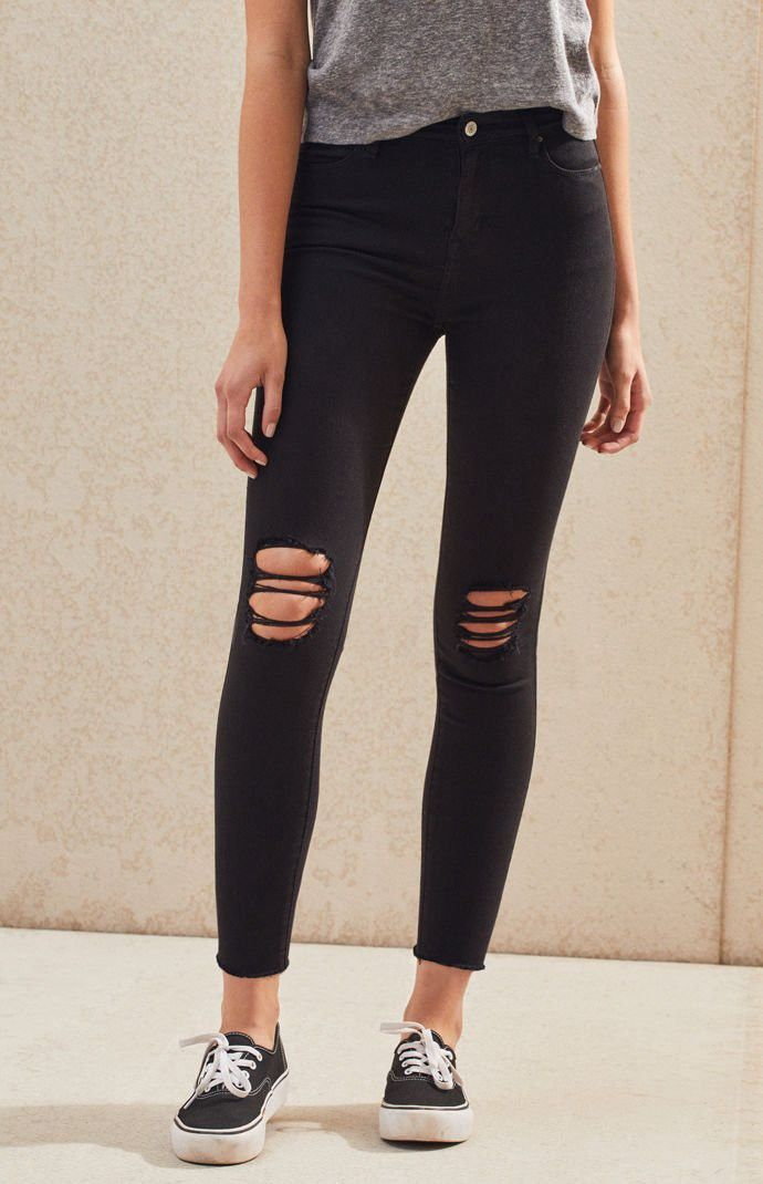 b2261569f1121 Pacsun Eagle High Rise Ankle Jeggings - 23 Long Blue in 2019 ...