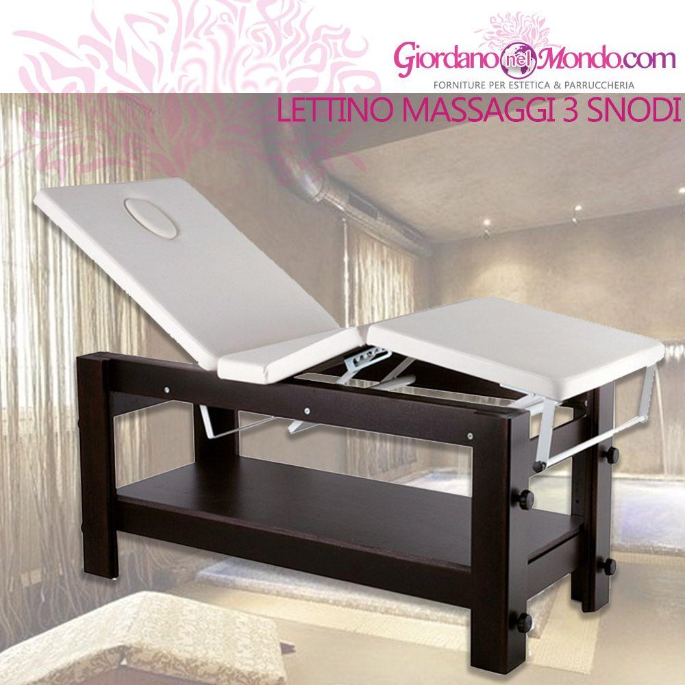 Portarotolo Per Lettino Massaggio.New Lettino Massaggi In Legno A 3 Snodi Regolabile Con Asta Porta