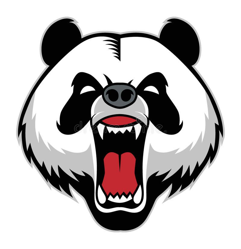 Panda Head Mascot Vector Of Panda Head Mascot Suitable As A Mascot Print T S Spon Mascot Vector Panda Panda Artwork Panda Head Panda Illustration